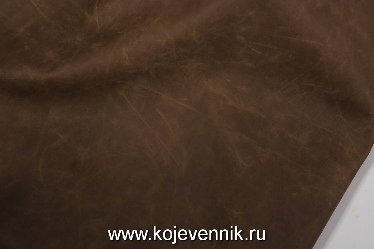 Кожа натуральная - Крейзи хорс олива 1,8-2,0