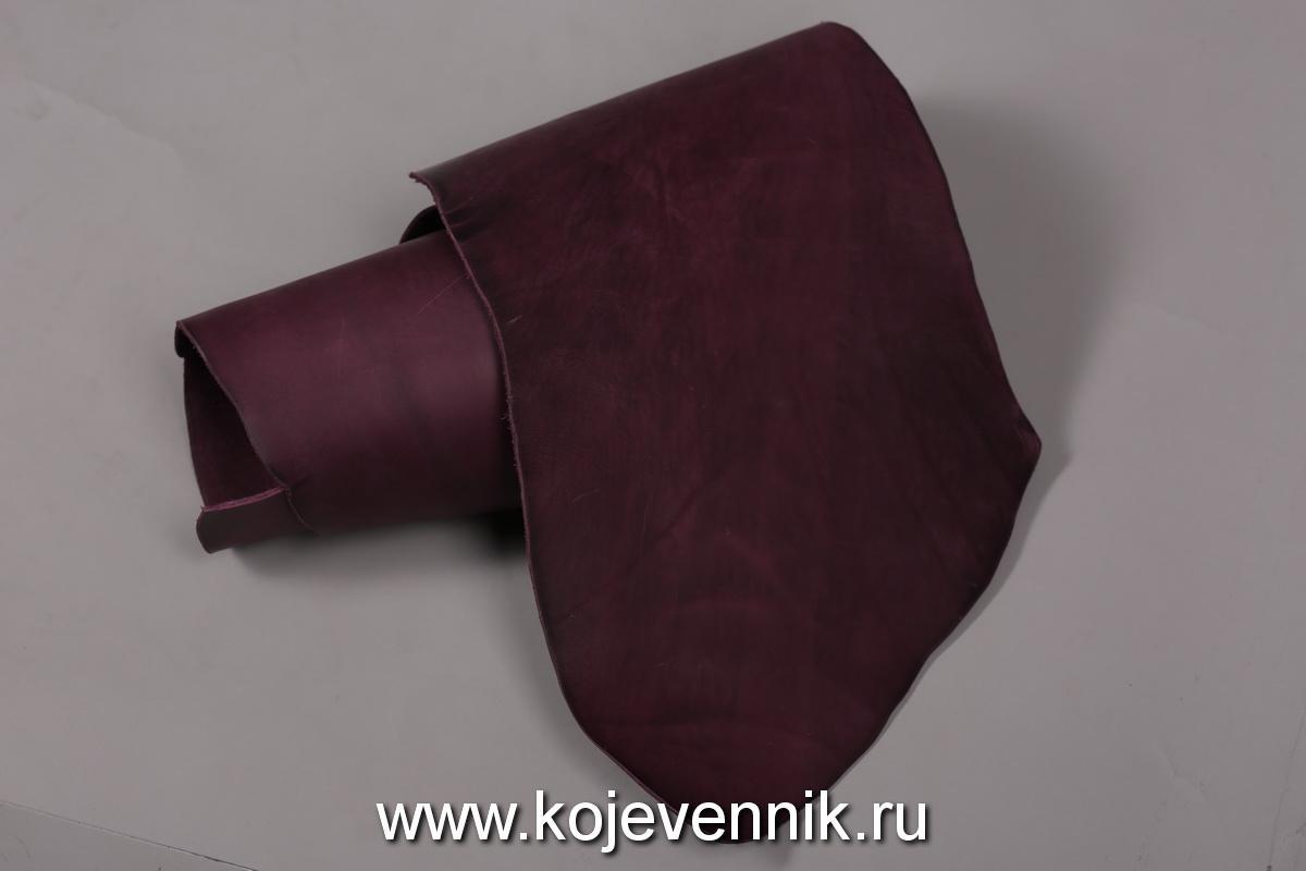 Кожа натуральная - Пола барабаного крашения фиолетовая